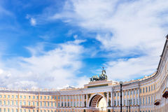 Background with General Staff Building in St Petersburg, Russia Royalty Free Stock Images