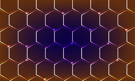 Background - Geometric Brilliant. Geometric Brilliant Background. Hexagon Polygon Golden Purple Pink Brown Dark Blue White Sparkle Royalty Free Stock Images