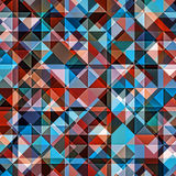 Background Geometric Colorful Pattern. Mosaic hipster background made of triangles. Retro label design. Square composition with geometric shapes. Hipster theme Stock Photo