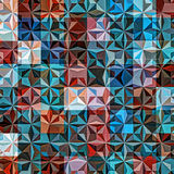 Background Geometric Colorful Pattern. Mosaic hipster background made of triangles. Retro label design. Square composition with geometric shapes. Hipster theme Royalty Free Stock Photos