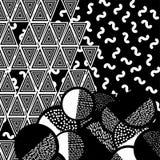Background with geometric figures. Vector illustration stock illustration