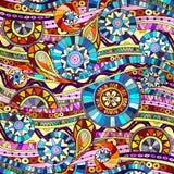 Background with geometric mosaic elements. Stock Photos