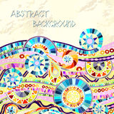 Background with geometric mosaic elements. Royalty Free Stock Image