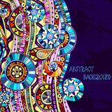 Background with geometric mosaic elements. Royalty Free Stock Photo