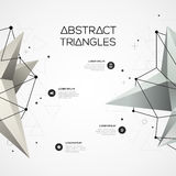 Background with geometric polygonal elements. Abstract background with geometric polygonal elements. Infographic design layout for business presentations, flyers Stock Photography