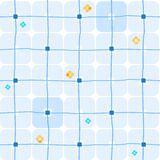 Background, geometric, seamless, large blue squares on white. Seamless white background with large blue squares. Geometric pattern. For printing and decorating Stock Photos