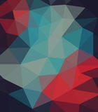 Background of geometric shapes. Colorful mosaic pattern. Vector EPS 10. Vector illustration, red and blue colors Stock Images