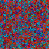 Background of geometric shapes. Red, blue, brown, colors. Seamless mosaic pattern. Vector illustration royalty free illustration
