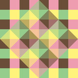Background of geometric squares Stock Images