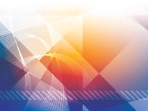 Background with geometrical shapes in vector. Background with rectangles, squares, triangles and lines vector illustration Royalty Free Stock Photo
