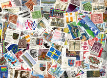 Background of German postage stamps Royalty Free Stock Images