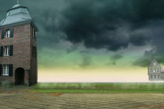 Background with germany buildings. Mystic background with germany buildings for your work Stock Photography