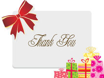 Background with gift and bow Stock Images