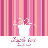 Background with gift box Royalty Free Stock Image