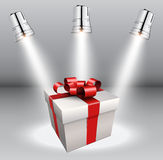 Background with gift box Stock Photography