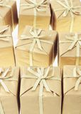 Background of Gift boxes Royalty Free Stock Photos