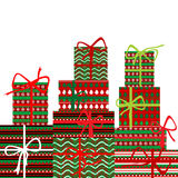Background with gift boxes. Over white background Stock Image