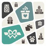 Background with gift boxes Royalty Free Stock Photo