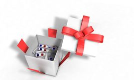 Background of gift virtual realtiy glass, 3d render Royalty Free Stock Photo