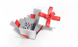 Background of gift virtual realtiy glasses, 3d render Stock Photography