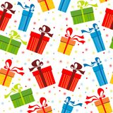 Background with gifts Royalty Free Stock Images