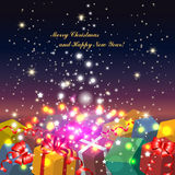 Background with gifts Royalty Free Stock Photo