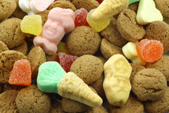 Background of ginger nuts Stock Image
