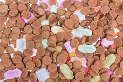 Background of ginger nuts ans sweets. Candy at Dutch Sinterklaas event Royalty Free Stock Photography