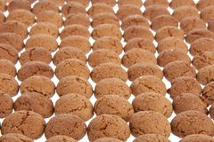 Background of ginger nuts, Dutch sweets Royalty Free Stock Image