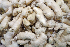 Background of Ginger root Stock Images