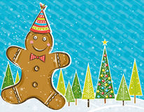 Background with Gingerbread man,  Stock Images