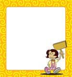 Background Girl. Girl design and box custom vector illustration