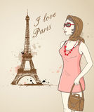 Girl in Paris Stock Photos
