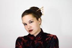 background girl portrait white στοκ φωτογραφίες με δικαίωμα ελεύθερης χρήσης