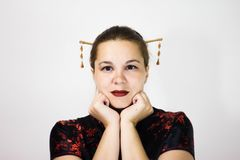 background girl portrait white στοκ εικόνες με δικαίωμα ελεύθερης χρήσης
