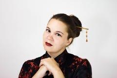 background girl portrait white στοκ φωτογραφία με δικαίωμα ελεύθερης χρήσης