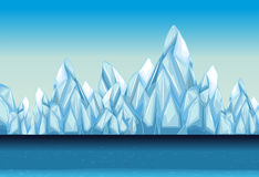 Background with glacier and ocean. Illustration stock illustration