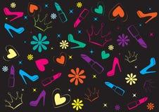 Background Glamour Black. Vector illustration Background Glamour Black royalty free illustration