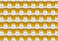 Background with a glass of beer. Option with three glasses stock images