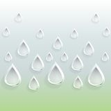 Background of glass carved drops Royalty Free Stock Images