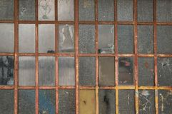 Background of glass and grid metal royalty free stock photo
