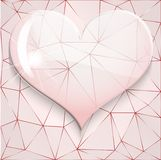 Background of glass heart Stock Photo