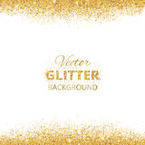 Background with glitter golden frame and space for text. Royalty Free Stock Photography