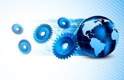 Background with globe Stock Image