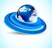 Background with globe Royalty Free Stock Images