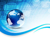 Background with globe Stock Photography