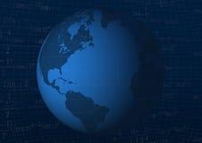Background with globe stock illustration