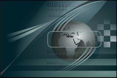 Background with globe Stock Photo