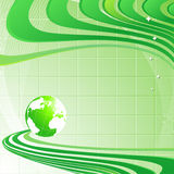 Background with globe. Abstract modern light green background with a globe stock illustration