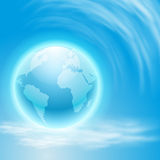 Background with globe Stock Image